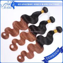 Super perfect heat resistant synthetic ombre hair aaaaaaaaaa weave indian, adjustable weave cap, adorable hair weave