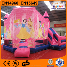 Outdoor Commercial Fairy Princess Bouncy Castle With Customized Banner