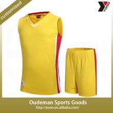 2015 High quality basketball jersey sets cool design basketball uniforms wholesale hot sale basketball team wear