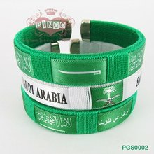 Festive Fabric Woven Wristband for The Saudi National Day