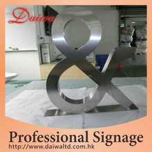 Big Custom Stainless-Steel Metal Alphabet Letters Logo Sign Alphabet Letters