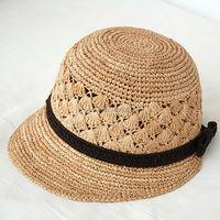 Summer Fashion Plain Folding Women Beach Straw Hat