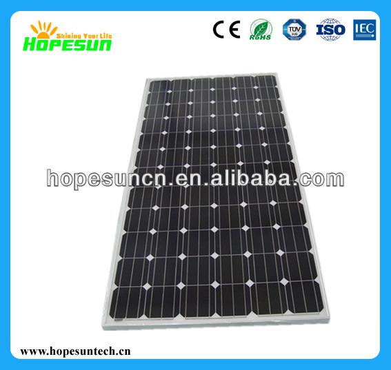 Cheap solar panel 100W 150W 200W 250W 300W monocrystalline solar panel price