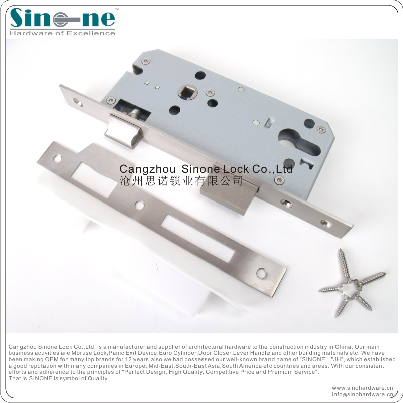 Small mortise door lock body for fire door deadbolt lock for Door lock germany