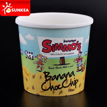 Novelty paper cup ice cream