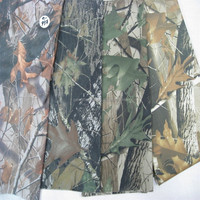 polyester waterproof canvas fabric for tent with camouflage printed and uv-proof coated