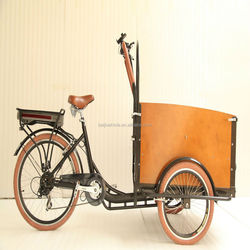 pedal coffee bike family use front box trike three wheel cargo bike tricycle for adults