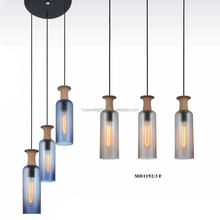 China Ceramic make energy saving glass&cement&copper industrial style pendant lighting