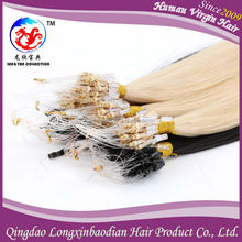 2015 LXBD New Arrival Top Grade 100% Virgin European Silky Straight Full Cuticle Remy Wholesale Micro Loop Hair Extensions