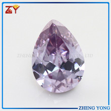 wholesale pear shape lavender color synthetic gemstone beads price