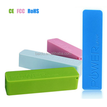 convenient 2600mah power bank for xiaomi and iphone with USB charger and ISO adapter