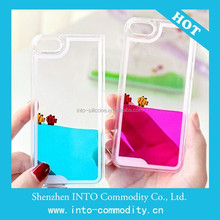 Floating liquid plastic case for iPhone6 Plus