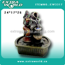 morden resin women water fountain for home decoration