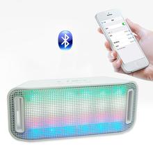 wireless bluetooth stereo speaker hanging flashing circular led lights