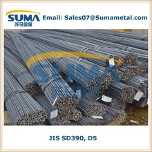 SD390 D5 Steel Rebar price per ton, JIS G3112-2004 for construction (JAPAN STANDARD)