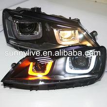 For VW New Jetta MK6 / Sagitar LED Headlight with DRL 2012 year U Style