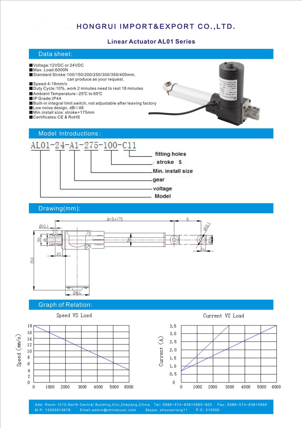 Waterproof Dc Electric Linear Actuator Ip68 Max Load 6000n Buy Schematic 2 1