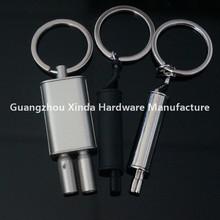 Different type metal car parts exhaust keyring ,Turbine keyring ,LED spark plug key holder