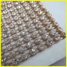 Coffee Banding With Crystal Stone Plastic Diamante Banding