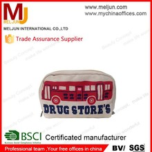 2015women cosmetic bag bus clutch bag canvas bag