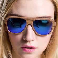 Hand made fashion bamboo sunglasses wood eyewear
