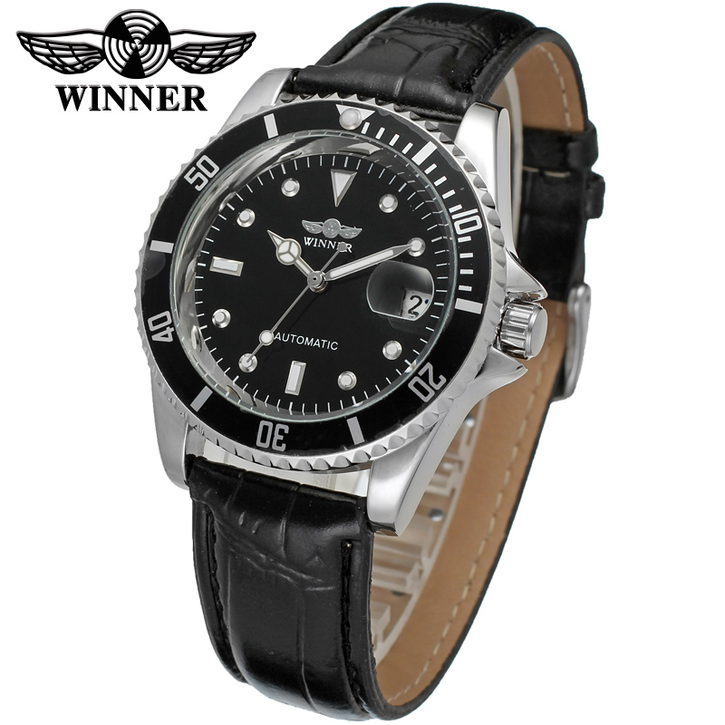 luxury brand leather strap self wind automatic Mechanical Watches mens watches top brand luxury relogio masculino WristWatch