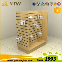Slotted melamine wood display stand for cell phone mobile accessories display stand