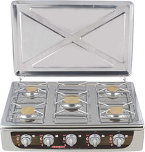 5 burners good quality cooking range full stainless steel cooking range