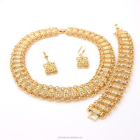 Hot 18K Gold Plated African Jewelry set Zinc Alloy Metal Necklace Jewelry Set