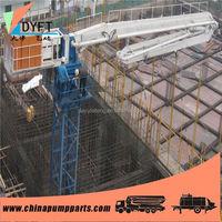 China small portable manual concrete pump placing boom