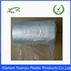 LDPE clear plastic disposable hotel laundry bags on roll