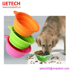 2015 Eco-friendly Dog Feeding Bowl Collapsible Silicone Dog Water Bowl