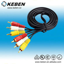 China factory price 3 rca audio video cable