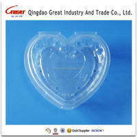 125g Heart Shape Disposable Plastic Fruit Container Raspberry Container
