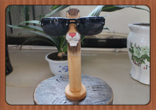 Hot selling 10 years wood carved animal glasses holder stand