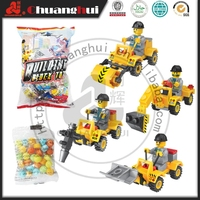 Similar LE GO TOY Building Block Vehicle Toy candy/ Candy With Le go Engineer Truck Toy