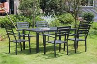 Patio garden plastic wooden furniture