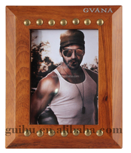 Wholesale Handmade Craft Art Wood Square Retro Photo Frame Picture as Gift