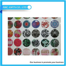 custom style 3d logo epoxy sticker