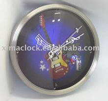 New Color Printing Stainless Steel Wall Clock Metal Clock