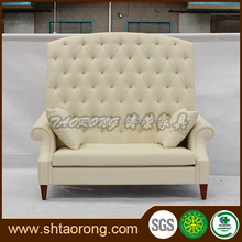Modern high back white leather chesterfield sofa SO-300