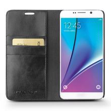 QIALINO Customization Hand-Made Cow Leather Shockproof Case For Samsung For Galaxy Note 5