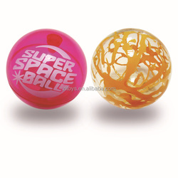 2015 Hot Selling Inflatable LED flashing ball Printing inset bouncing ball Air inflatable TPU toys ball