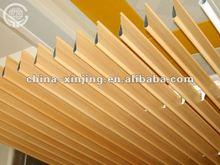 Wood Color Metal Strip False Ceiling/Water Drop Baffle Ceiling(patented product)