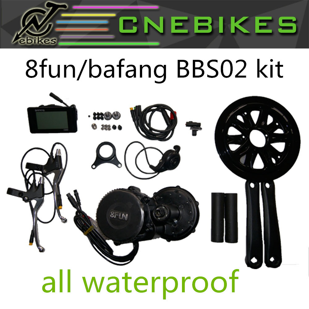 8FUN Bafang bbs-02 BBS02 mid mount motor mid central 48v750w 48v 500w 36v 500w drive ebike conversion kit