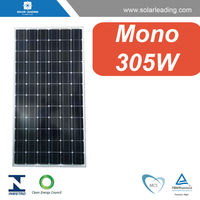 CE approved 305w import solar panels connect to dc ac inverter for commercial solar power system