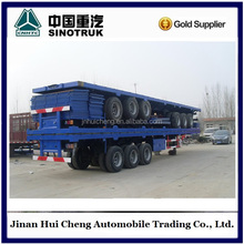 flatbed semi-trailer for one 40 feet or two 20 feet container