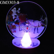 best selling Christmas gift color changing angel and a santa claus