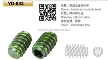 Venda quente C muitos tamanho dentes nylon trava nuts para parafuso de madeira uso YD-832