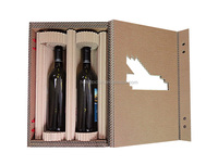 China high quality classic corrugated cardboard wine boxes and cardboard wine carrier box